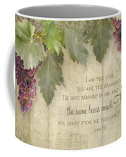 Tuscan Vineyard - Rustic Wood Fence Scripture Coffee Mug