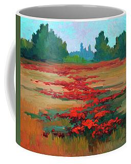 Tuscany Poppy Field Coffee Mug by Diane McClary