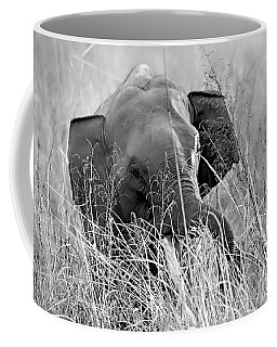 Tusker In The Grass Coffee Mug by Pravine Chester