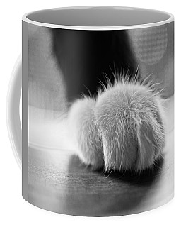 Tuxedo Cat Paw Black And White Coffee Mug