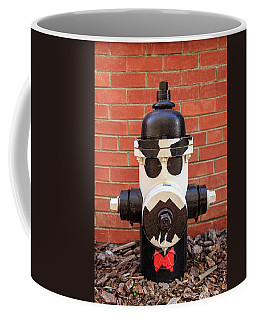 Coffee Mug featuring the photograph Tuxedo Hydrant by James Eddy