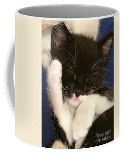 Tuxedo Kitten Snoozing Coffee Mug