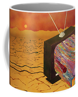 Tv Wasteland Coffee Mug by Thomas Blood