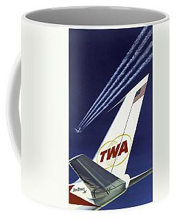 Twa Star Stream Jet - Minimalist Vintage Advertising Poster Coffee Mug