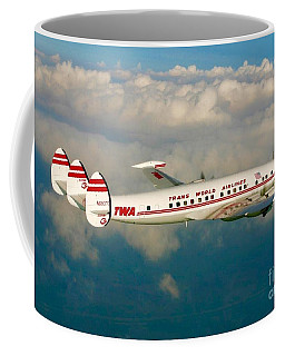 Coffee Mug featuring the digital art Twa Super G Connie by James Weatherly