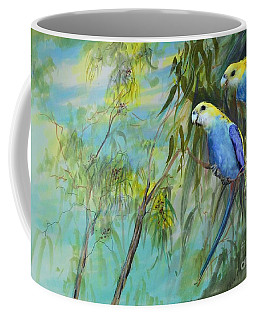 Two Pale-faced Rosellas Coffee Mug