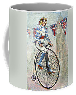 Tweed Run Lady In Blue On Penny Farthing  Coffee Mug