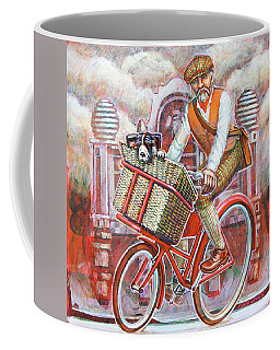 Tweed Runner On Red Pashley Coffee Mug