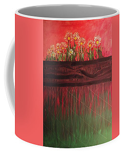 Twelve Daises In Window Box Coffee Mug