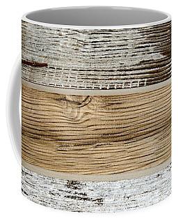 Twig Cross On Weathered Wood Coffee Mug by Liz Masoner