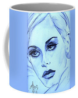 Twiggy In Blue Coffee Mug by P J Lewis
