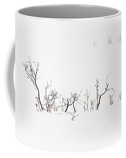 Twigs In Snow Coffee Mug