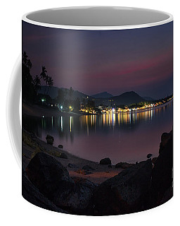 Coffee Mug featuring the photograph twilight at Bophut Beach by Michelle Meenawong