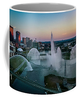 Twilight At The Fountains Coffee Mug