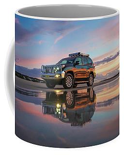 Twilight Beach Reflections And 4wd Car Coffee Mug