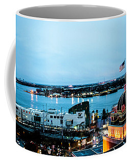 Twilight By The Mississippi River Coffee Mug