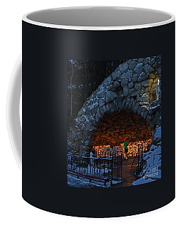 Twilight Grotto Prayer Coffee Mug by John Stephens