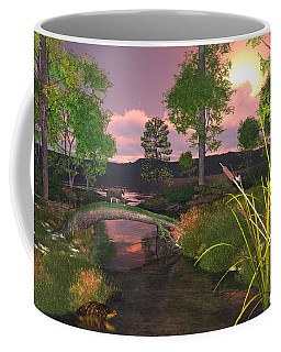 Coffee Mug featuring the digital art Twilight Hunter by Mary Almond
