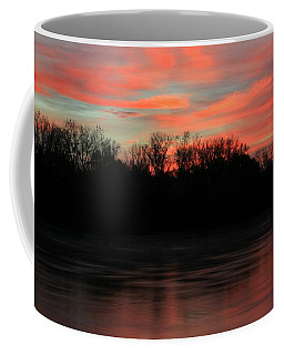 Coffee Mug featuring the photograph Twilight On The River by Chris Berry