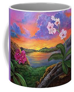 Twilight Orchids Coffee Mug