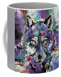 Twilight Purple Wolf Coffee Mug