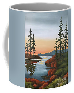 Coffee Mug featuring the painting Twilight Sunset by Inese Poga