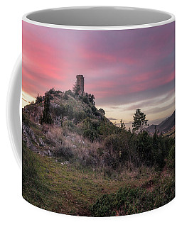 Twilight Tower - Tower Of Caprona In Tuscany, Pisa Coffee Mug