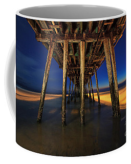 Twilight Under The Imperial Beach Pier San Diego California Coffee Mug