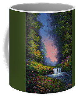 Coffee Mug featuring the painting Twilight Whisper by Kyle Wood