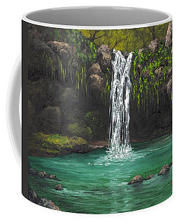 Coffee Mug featuring the painting Twin Falls 2 by Darice Machel McGuire