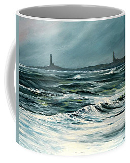Twin Lights Rockport Ma Coffee Mug by Eileen Patten Oliver
