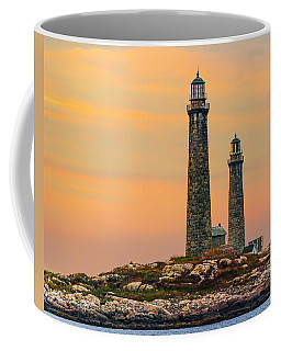 Twin Lights With Morning Glow Coffee Mug