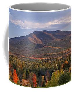 Twin Mountain Autumn Sunset Coffee Mug