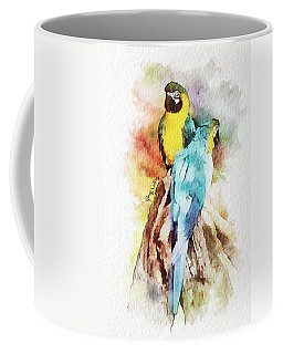Twin Parrots Coffee Mug
