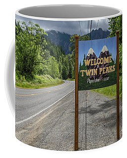 Twin Peaks Sign Coffee Mug