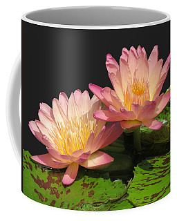 Twin Pink Ilies Coffee Mug
