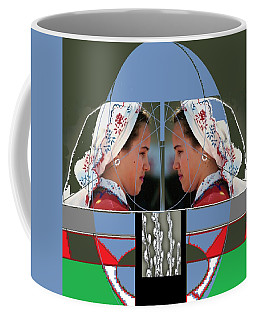 Coffee Mug featuring the mixed media Twins by Andrew Drozdowicz
