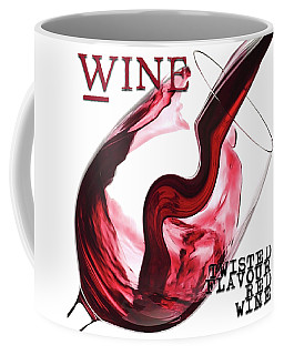 Twisted Flavour Red Wine Words Coffee Mug