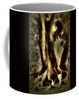 Coffee Mug featuring the photograph Twisted Trees by Tom Prendergast