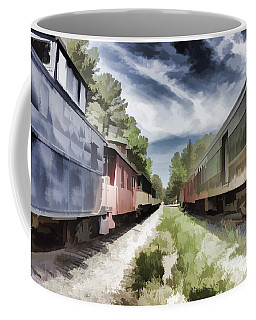Twixt The Trains Coffee Mug
