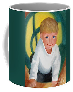 Coffee Mug featuring the painting Two And A Half by Patricia Cleasby