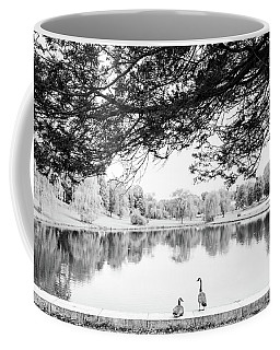 Coffee Mug featuring the photograph Two At The Pond by Karol Livote