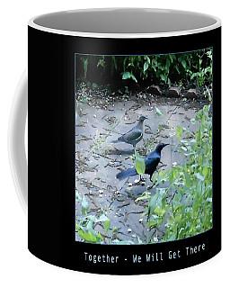 Coffee Mug featuring the photograph Two Birds Blue by Felipe Adan Lerma