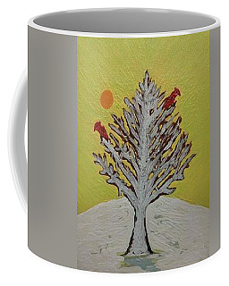 Two Birds In A Tree Coffee Mug by Jonathon Hansen