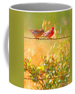 Two Birds On A Wire Coffee Mug