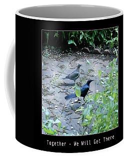 Coffee Mug featuring the photograph Two Birds Pink by Felipe Adan Lerma
