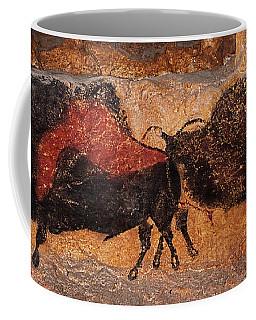 Two Bisons Running Coffee Mug