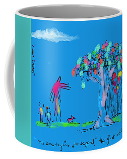 Two Boys, A Dog, And A Giant Coffee Mug