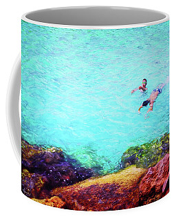 Two Boys Swimming Coffee Mug