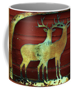 Coffee Mug featuring the photograph Two Bucks 1 by Larry Campbell